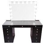 Black PRO 2.0 TABLETOP + GLOW PRO VANITY MIRROR + DRAWER UNITS BUNDLE