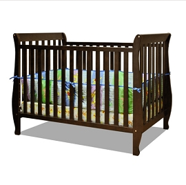 Convertible 2-1 Crib/Toddler Bed with Mattress