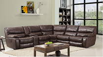 9931 - Dark Brown Sectional with Power Recliners (COPY)