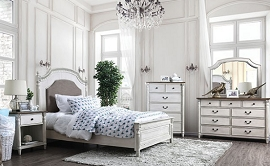 Hesperia Antique White Bedframe