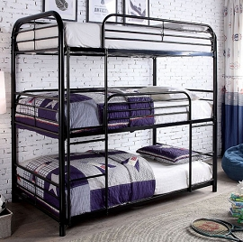 OPAL II - Triple Twin Bunk Bed   (item temporarily  OUT OF STOCK (ETA:2020-08-10) )