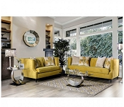 2 pcs Royal Yellow Microfiber Sofa set