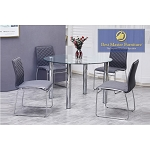 T07 Modern Dining Set  ( 5 Pcs Set)