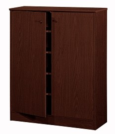 Roberta Red Cocoa Wood Shoe Cabinet