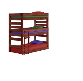 Triple Solid Wood Bunk Bed- any color