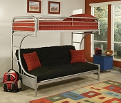 Twin/ Full Futon Bunk Bed with Mattress