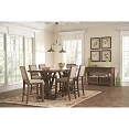 7 Pcs Bridgeport Rustic Counter Height Table Set