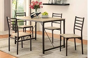 5 Pcs Industrial Style Dining Set