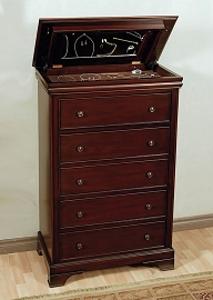 Versailles 5 Drawer Chest with Lift Top