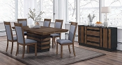 OCTAVIA COFFEE WALNUT 7 PC RECTANGULAR EXTENSION DINING TABLE SET