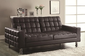Contemporary Dark Brown Sofa Bed