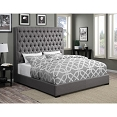 Upholstered Bed with Diamond Tufting