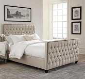 Saratoga Oatmeal Woven Upholstered Panel Bed By Scott Living