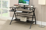 Black Metal Writing Desk