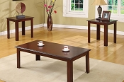 3 Pcs Espresso Finish Coffee table set