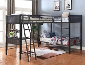 Twin/ Twin Bunk Bed with Twin Loft Add-On