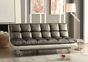 Black and Silver Adjustable Sofa
