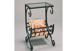 Metal Magazine Rack - Black