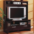 Merlot Finish Entertainment Wall Unit