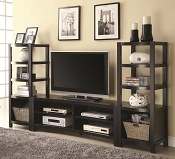 Espresso Finish Entertainment Wall Unit