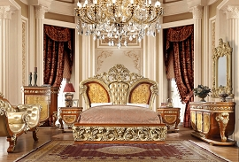 Gold and Red Luxury Bed Frame