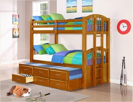 Twin Wooden Bunk Bed- color option