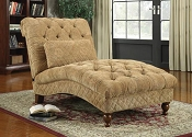 Chenille Golden Sand Chaise