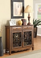 Traditional Accent Cabinet in Brown Finish