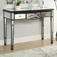 Black Console Table with Mirror