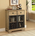 Accent Cabinet with Metal Doors
