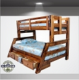 Twin/ Full Solid Wood Bunk Bed- Drawer option