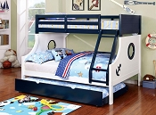 Nautical Twin/ Full Bunk Bed