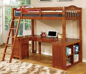Twin Wooden Loft Bed OUT OF STOCK (ETA:2020-08-30