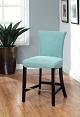 Blue Flax Fabric Barstool