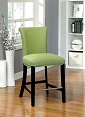 Green Flax Fabric Barstool