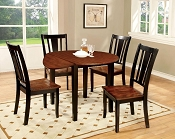 5 Pcs Round Table Set with Drop Leave