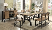 6 Pcs industrial Styled Dining Table with bench