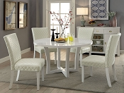 5 Pcs Chic White Dining Set
