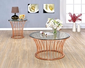 Rose Gold Metal Coffee Table