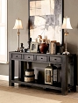 Antique Black Finish Sofa Table