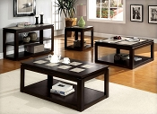 Espresso Finish Contemporary Coffee Table