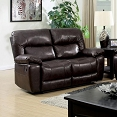 Top Grain Brown  Leather Love seat