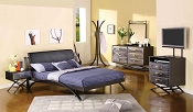 Black Finish Metal Bed