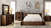 Natural Wood Platform Bed Frame