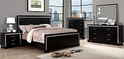Contemporary Black Finish Bed Frame