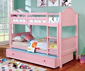 Denise Twin/Twin Pink Bunk Bed