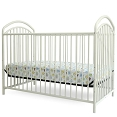 White Mariposa 3 in 1 Full Sized Metal Crib