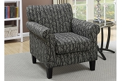 Branch Pattern Accent Chair