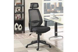 Black Office Chair with Neck Support