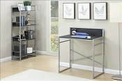 3 pcs Metal Desk, Bookshelf, and Office Chair